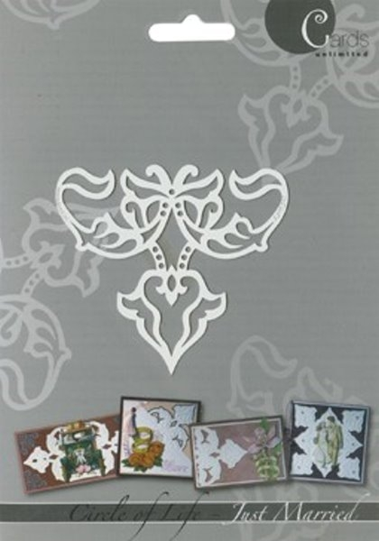 Fleur de Lis - Just Married - Prägeschablone / Embossing-Folder