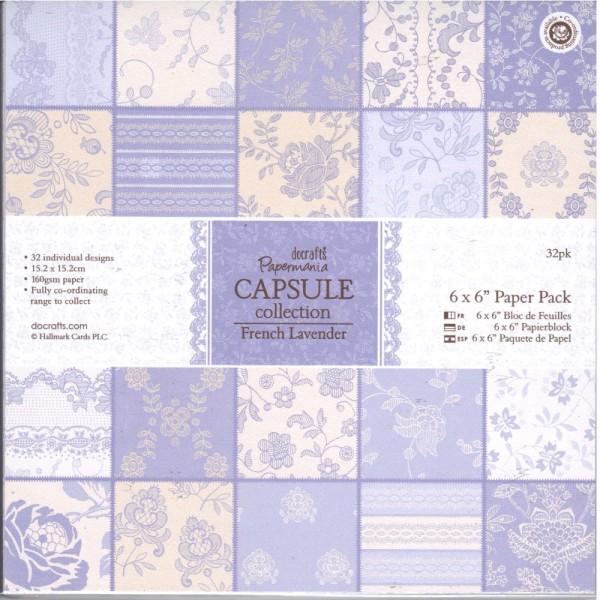 Motivpapier-Set / Scrapbook - doCrafts Papermania - Capsule Collection - Fresh Lavender