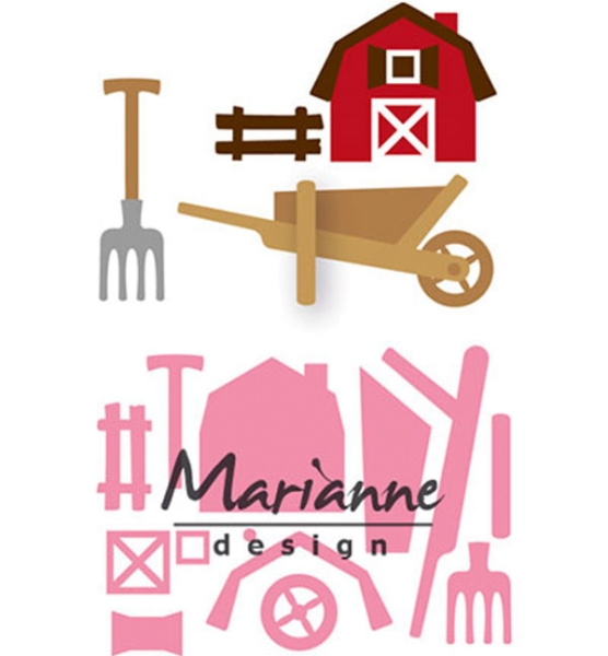 Bauernhof / Farm Set - Stanzschablone von Marianne Design