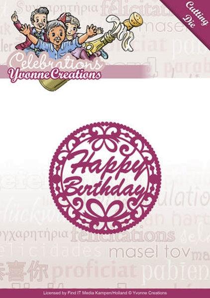 Happy Birthday (Embleme) - Stanzschablone
