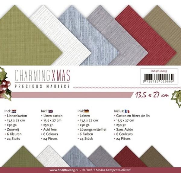 Charming Xmas - Precious Marieke - Leinenpapier-Set
