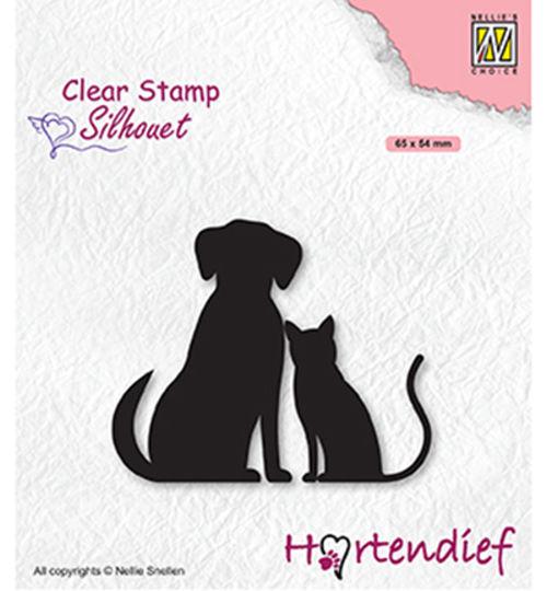 Silhouet - My Friends - Clear Stamp / Stempelplatte von Nellie´s Choice (SIL093)