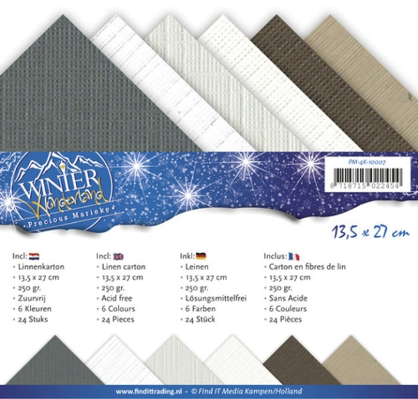 Winter Wonderland - Precious Marieke - Leinenpapier-Set