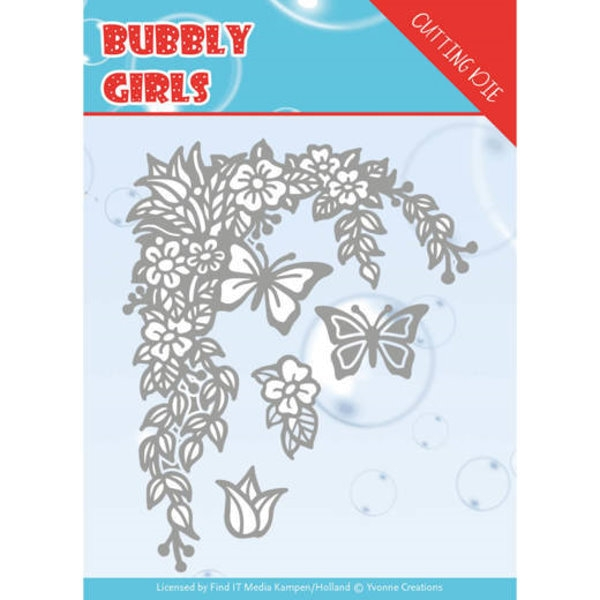 Bubbly girls- Flower Corner - Stanzschablone