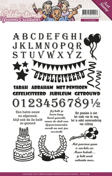 Celebrations - Texte - Stempel / Clearstamp