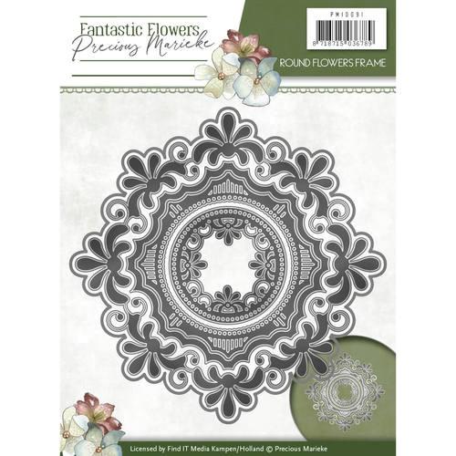 Round Flower Frame- Fantastic Flowers - Stanzschablone
