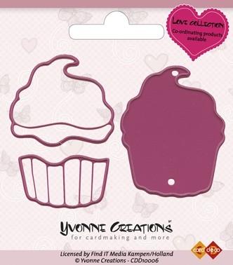 Stanzschablone - Cupcake