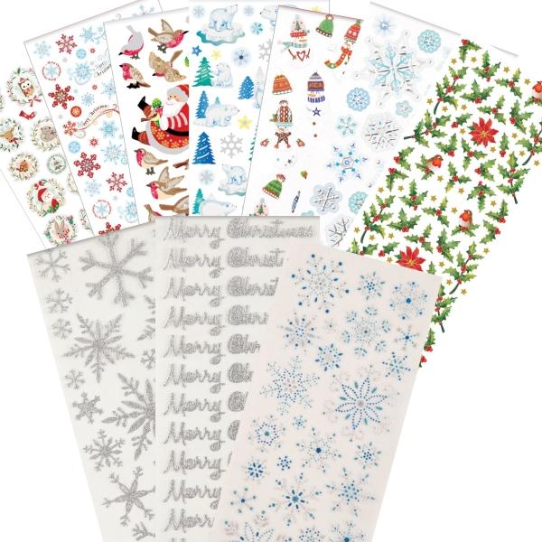"""PAPERMANIA Sticker Set 7 - """"Weihnachten / Xmas"""" - 10 Blatt 22x10cm"""