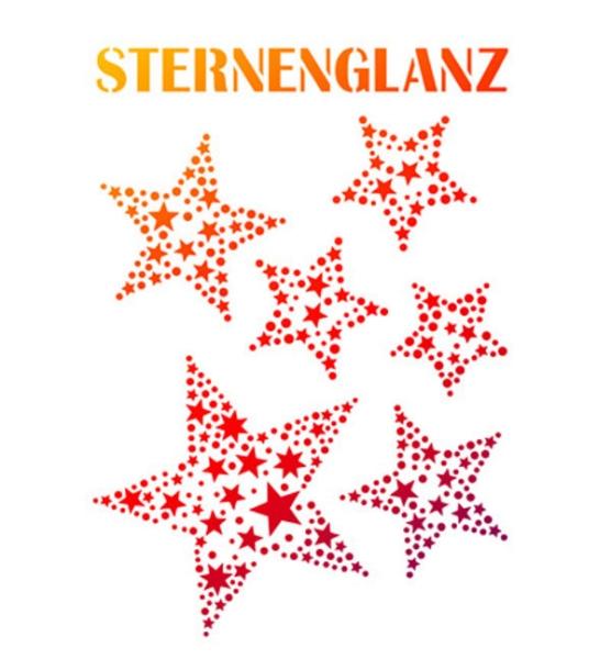 Universal-Schablone - Sternenglanz DIN A4