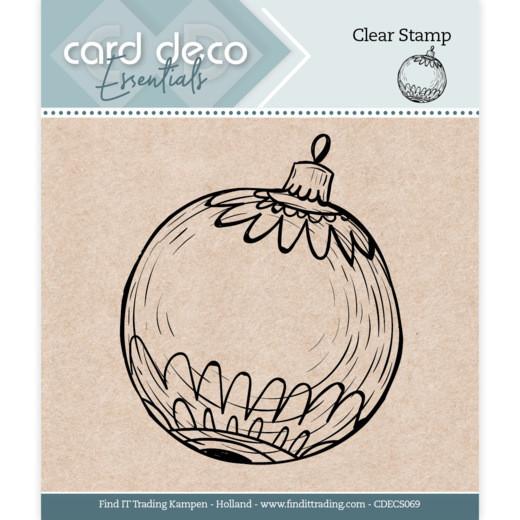 Christmas Ball / Christbaumkugel - Clearstamp / Stempel von Card Deco Essentials (CDECS069)