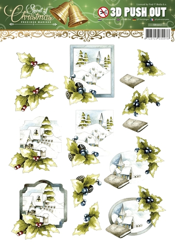 Frame - Spirit of Christmas - 3D - Stanzbogen