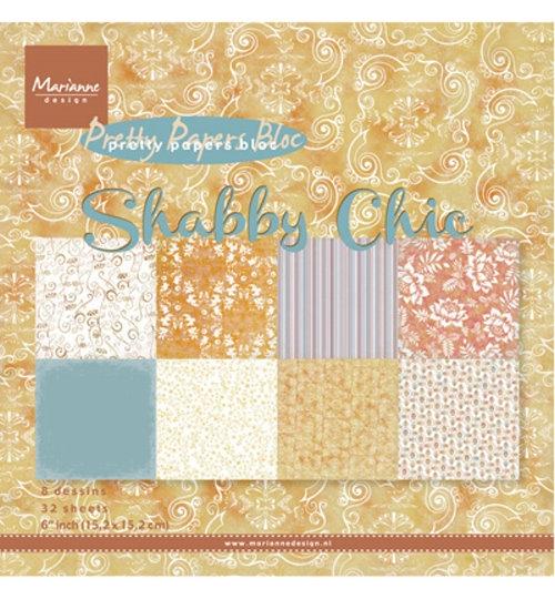 Shabby Chic- Motivpapier-Set / Scrapbook - 15x15 cm