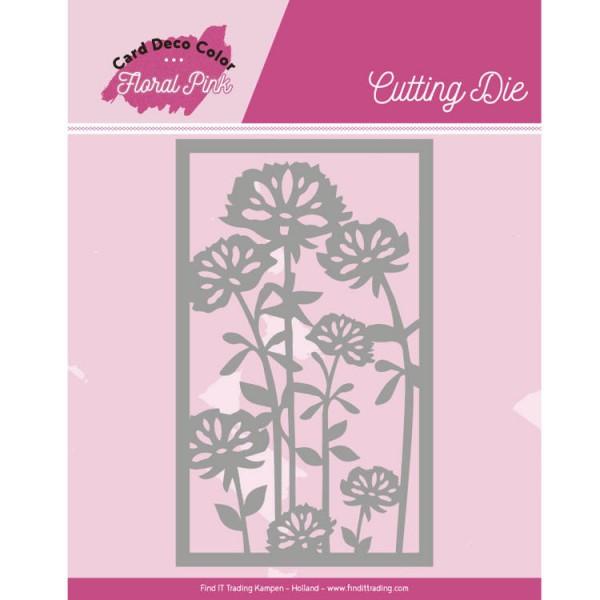 Floral Pink Frame - Stanzschablone
