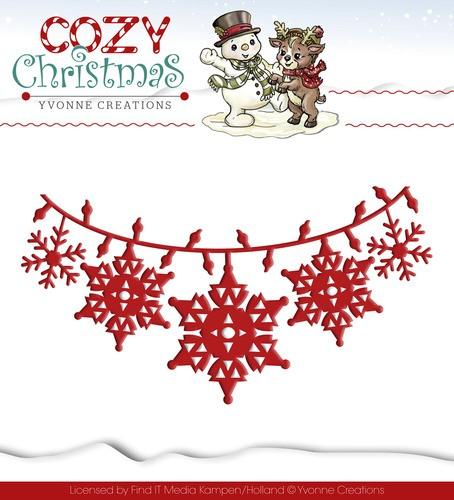 Stanzschablone - Christmas Lights / Lichterkette von Yvonne Creations