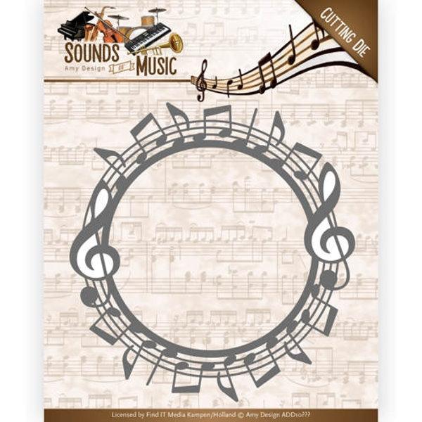 Music Border - Stanzschablone