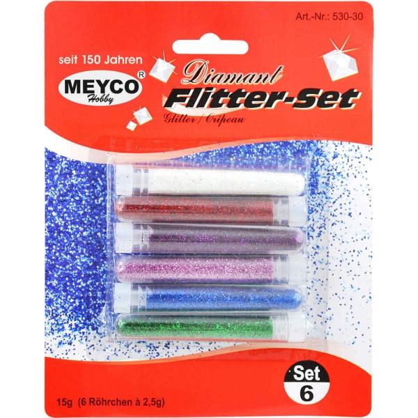 Diamantflitter-Set 6 Farben von MEYCO Hobby (530-30)