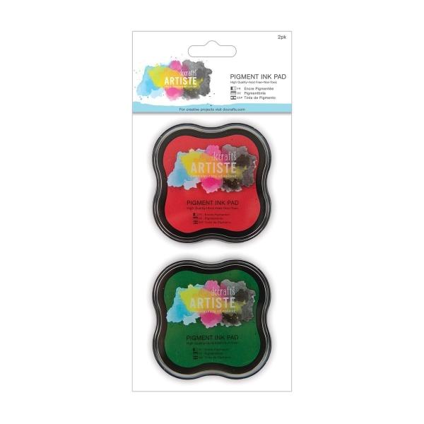 Pigmentstempelkissen - Set Rot / Grün von DoCrafts - Artisté
