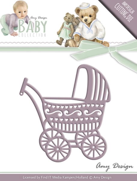 Kinderwagen / Baby Carriage - Stanzschablone
