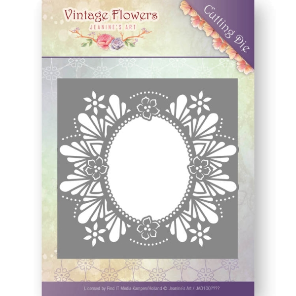 Floral Oval - Vintage Flowers Collection - Stanzschablone