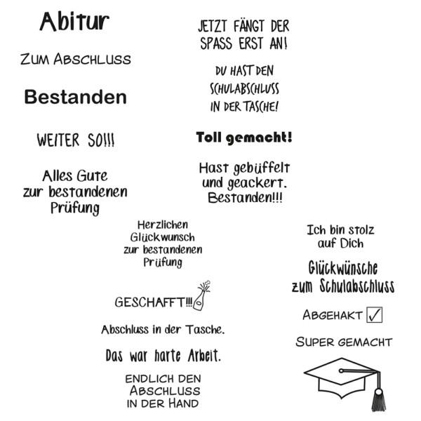 Abgänger / Schulabschluss - Stempel - Clearstamp