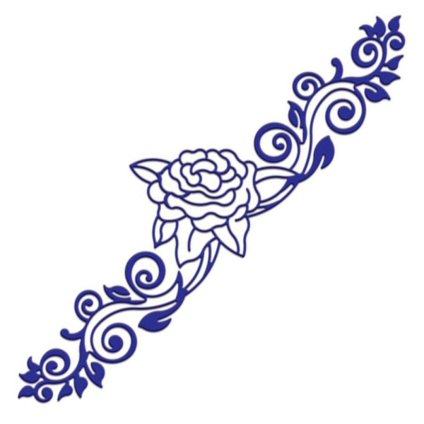 Lace Roses and Flourishes - Stanzschablone