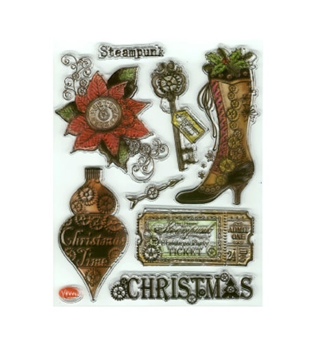 Steampunk Christmas - Stempel / Clearstamp