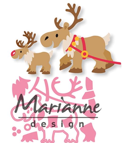 Eline´s Reindeer / Rentiere - Stanzschablone