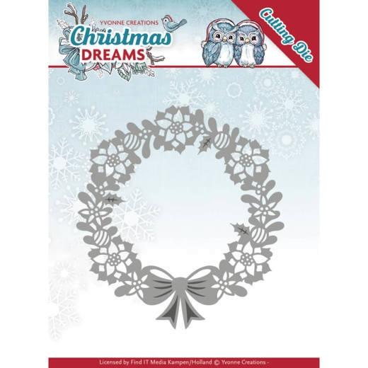 Poinsettia Wreath / Weihnachtsstern-Kranz - Stanzschablone