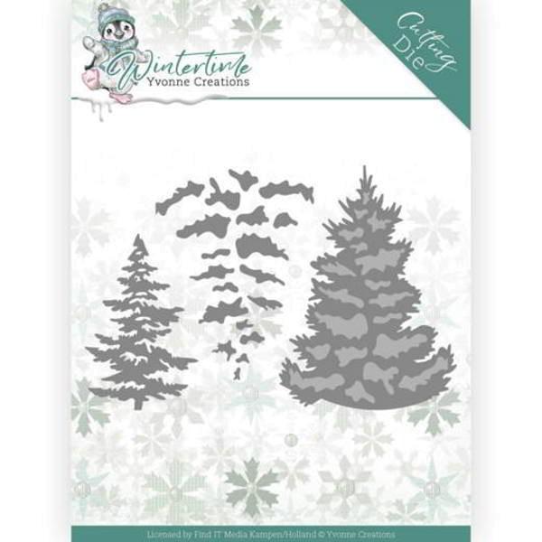 Pine Tree / Kiefer - Winter Time - Stanzschablone