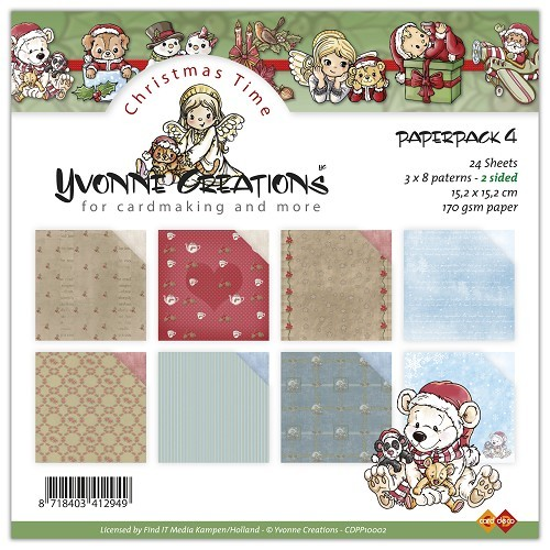 Motivpapier-Set / Scrapbook - Yvonne Creations - Christmas Time