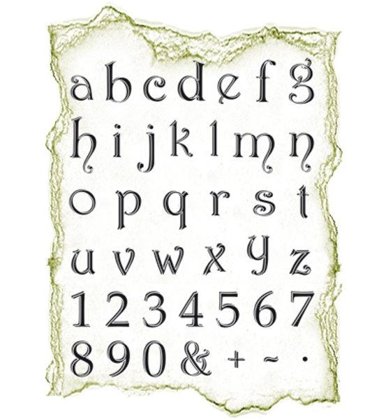 Alphabet, klein - Stempel / Clearstamp