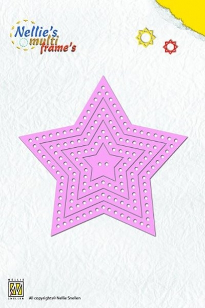 Multi Frame - Sterne - Stanzschablone