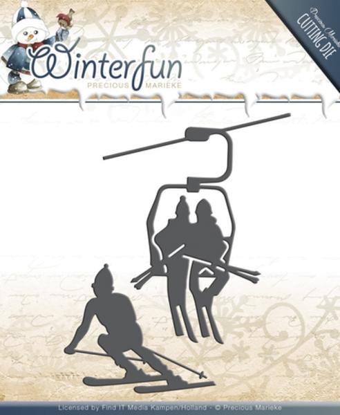 Sports - Winterfun - Stanzschablone