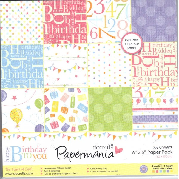 Happy Birthday to You - Motivpapier-Set / Scrapbook - doCrafts Papermania