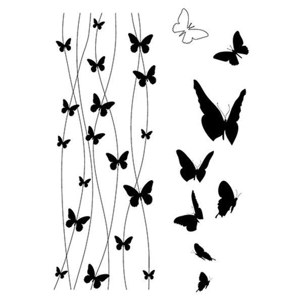 Schmetterlinge 2 - Clear Stamp - Stempelplatte von efco (4510943)