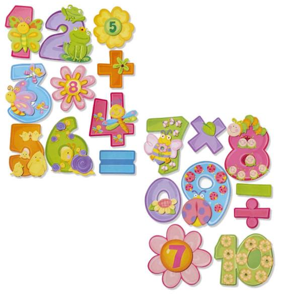 3D Sticker XXL Zahlen Set 2 Stk. Zahlen-Sticker von HobbyFun (3452581)