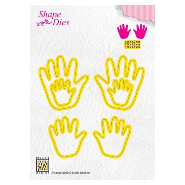 Babyhändchen / Baby hands - Stanzschablone