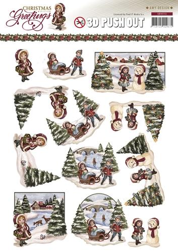 Weihnachtslandschaft - SB10113