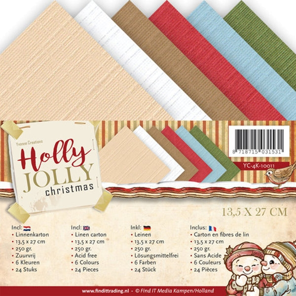 Holly Jolly - 4K-Leinenpapier-Set - Yvonne Creations