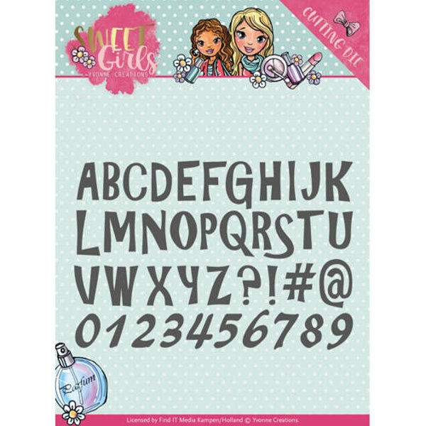 Lovely Alphabet - Sweet Girls - Stanzschablone