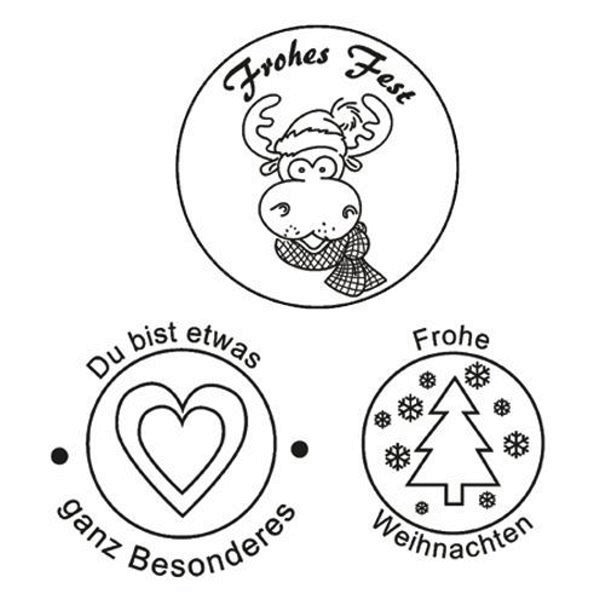 Frohes Fest - Stempel - Clearstamp