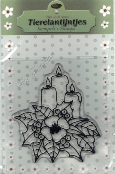Stempel - Clearstamp - Adventsgesteck