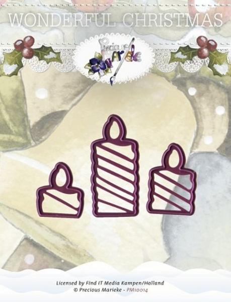 Kerzen / Candles - Stanzschablone