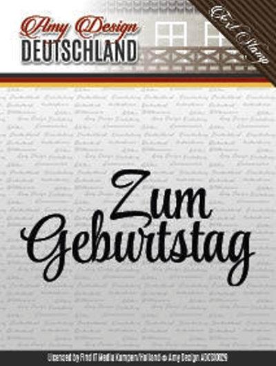 Textstempel: Zum Geburtstag - Clearstamp