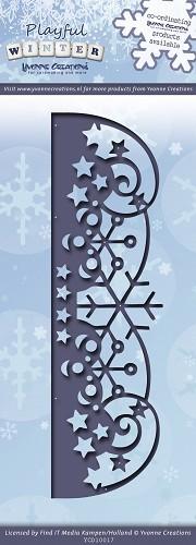 Snowflakes Border / Schneeflocken Bordüre - Stanz- Prägeschablone