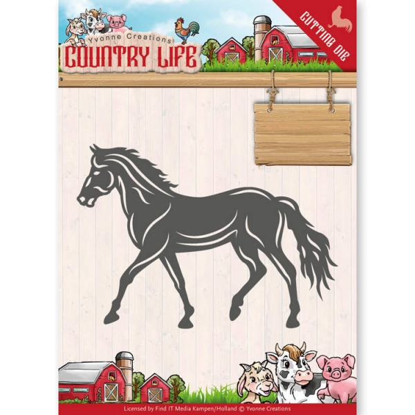 Pferd / Horse - Country Life - Stanzschablone