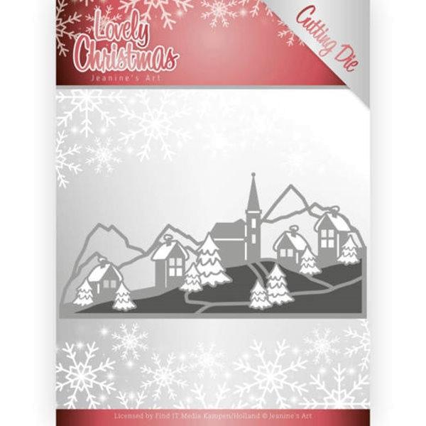 Lovely Christmas Landscape - Stanzschablone