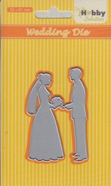 Hochzeitspaar / Wedding - Stanzschablone
