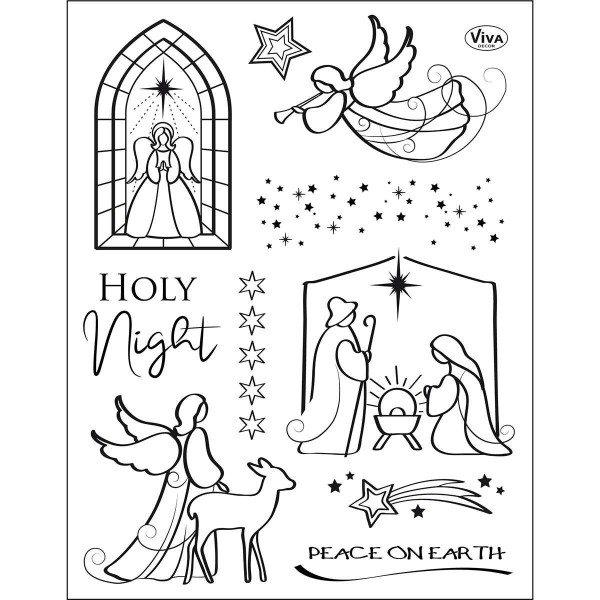 Holy Night - Stempel / Clearstamp