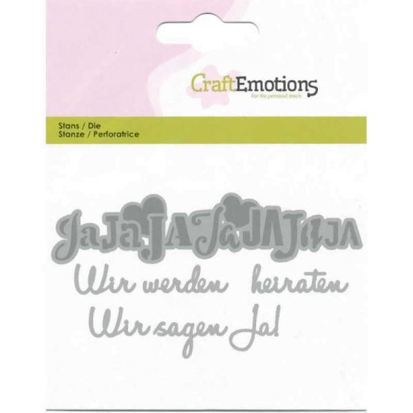 Wir werden heiraten - Textschablone von CraftEmotions (115633/0413)
